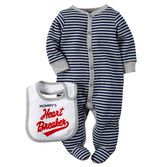Keep your little heart breaker cute and cozy on Valentine's Day in this soft cotton sleep
