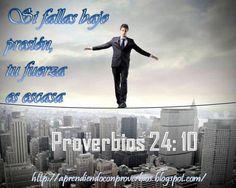 Proverbios 24:10 #EntreCristianosNosSeguimos http://aprendiendoconproverbios.blogspot.com/2013/05/bajo-presion.html