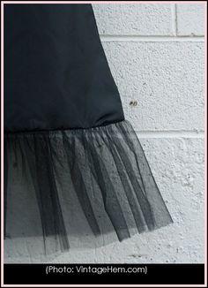 How to make a skirt extender for modest dress.