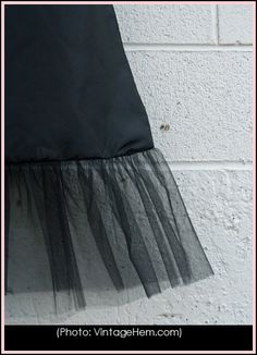 Make a skirt extender by buying a cheap slip, then sewing lace or tulle onto the bottom. *** You can also extend a T-shirt by adding tulle at the bottom- so easy!
