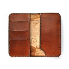 Hand Made leather iPhones 5 & 5s case - The Lincoln Wallet - From The Shire Supply Company by ShireSupplyCompany on Etsy