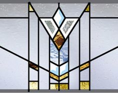 Prairie Stained Glass Window Beveled Antique by stainedglassfusion