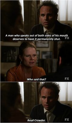 HA! Love this show and their one-liners. #BoydCrowder