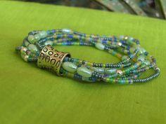 Summer color stretchy seed bead bracelet