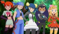 Team Organization Girls (TR Misty, Team Aqua May, Team Galatic Dawn, Team Plasma Iris, Team Flare Serena) Pokemon Rayquaza, Pokemon Waifu, Pokemon Manga, Pokemon Comics, Pokemon Funny, All Pokemon, Pokemon Fan Art, Chica Anime Manga, Pokemon Team
