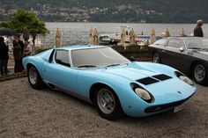 Lamborghini Miura in Azure Blue. Drop dead gorgeous.