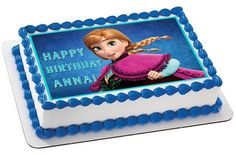 FROZEN Anna Edible Birthday Cake Topper OR Cupcake Decor