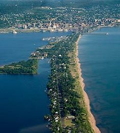 """Park Point, Duluth, MN - beautiful natural space with unique homes along """"the"""" street"""