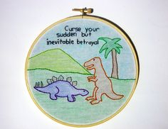 Firefly - Inevitable Betrayal quote embroidery | Flickr - Photo Sharing!