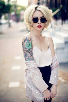 #tattoos #tattooed #ink #inked #tatt #tatts #bodymodification #girl #sleeves #hot