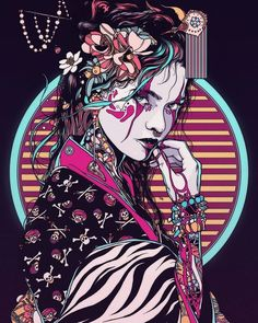 Geisha - 2017 on behance arrrt&design в 2019 г. art samouraï, fond d&ap Art Geisha, Geisha Drawing, Art Inspo, Art Cyberpunk, Art Du Croquis, Samurai Artwork, Drawn Art, Art Asiatique, Japanese Tattoo Art