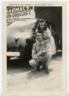 Soldier and his girl(probably around the 1950's era)Elmer  Mildred - Wallace, N.C.