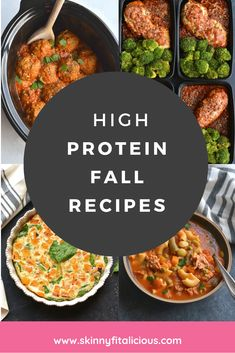 These 30 High Protein Fall Recipes include a variety of breakfast, lunch and dinner recipes. Delicious, comforting, healthy recipes perfect for fall. Healthy Low Calorie Meals, Low Calorie Recipes, Healthy Eating, Healthy Gluten Free Recipes, High Protein Recipes, Protein Foods, High Protein Chicken Salad, Cranberry Walnut Chicken Salad, Chicken Lentil Soup