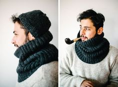 Free knitting pattern for cowl on the Purlbee