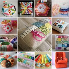 1. 'Hope Valley' pin cushion, 2. Scrappy Pincushion Swap--Round 2, 3. Scrappy Pincushion Swap--Finished!, 4. Bicycle Pincushion 2, 5. Stack of Pincushions, 6. fmf red and aqua and munki kitty, 7. SOOOooo cute!!!, 8. Pincushion Caddies from 'Seams to Me', 9. Scrappy Pincushion , 10. i chose orange, 11. Scrappy Pincushion Swap, 12. spoonful of sugar pincushions, 13. Chair pincushion14. Not available15. Not available16. Not available  Created with fd's Flickr Toys