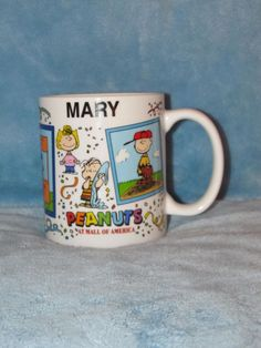 Peanuts Snoopy Personalized Name Mug Mary Charlie Brown Lucy Linus Franklin