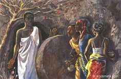 The Women at the Tomb, unknown African artist
