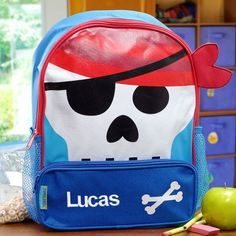 Embroidered Pirate Backpack