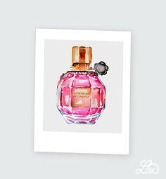 liz meester #watercolor #flowerbomb #viktor&rolf #parfume #fashion