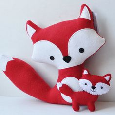 Foxes - cute sewn foxes