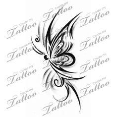 Marketplace Tattoo Butterfly Tribal #14651   CreateMyTattoo.com