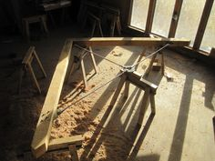 Oak Frame. Wood and Steel - oak and stainless steel trusses by Castle Ring Oak frame for Donald McIntyre