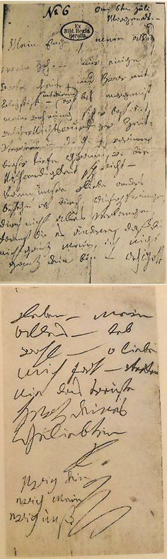 """Letter from Beethoven to his """"immortal beloved."""" Part of 12 Hand-Written Love Letters From Famous People."""