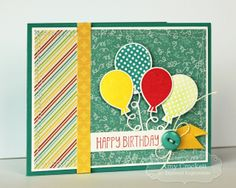 February SOTM Happy Birthday Balloons Card by Amy Crockett #Cardmaking, #StampoftheMonth, #Birthday, http://tayloredexpressions.com/kits.html