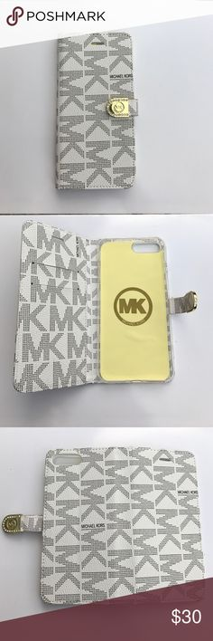 5379cd8eac49 Mk iPhone 7 Plus wallet case white New Michael kors iPhone 7 Plus wallet  case in