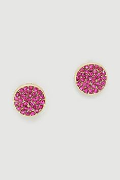 Sparkly pink earrings