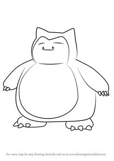 Learn How to Draw Snorlax from Pokemon GO (Pokemon GO) Step by Step : Drawing Tutorials Landscape Pencil Drawings, Pencil Art Drawings, Animal Drawings, Cute Drawings, Drawing Sketches, All Pokemon Drawing, Pokemon Sketch, Pokemon Go, Pokemon Cards Legendary