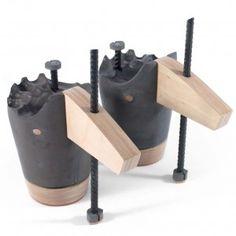Sandra Plantos' abstract concrete shoes purposefully prevent movement