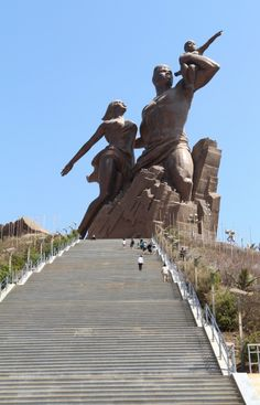 """African Renaissance"" is located near the airport in Dakar (Senegal) and stands 49m tall on the top of a 100m high hill. It is the tallest s..."