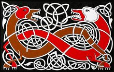 Fine Art New Zealand Drawing Celtic Dogs
