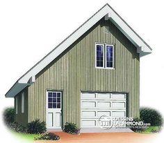 W2972 - Plan de garage détaché avec possibilité d'un bureau à l'étage