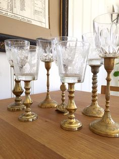 Wine glasses out of glasses and candlesticks from second hand! Diy Home Crafts, Craft Stick Crafts, Diy Furniture Making, Multipurpose Furniture, Diy Candle Holders, Repurposed Items, Recycled Crafts, My New Room, Craft Fairs