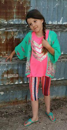Kids - Spirit Of Paisley Kimono Cardigan www.gypzranch.com