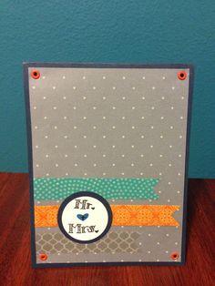 Wedding card. #pickyourplum #washitape