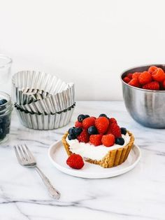no bake orange cream tartlets with mixed berries | by ohladycakes