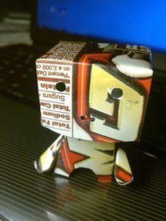 Robot from an aluminum can