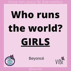 #VIBE #womenandgirls #empowerment #GirlPower #positivevibes #selfbelief #quotes #inspiration #hero #voiceandinfluence #beyonce