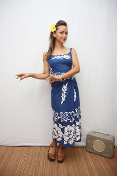 50's hawaian dress by TapouillonVintage on Etsy, €50.00