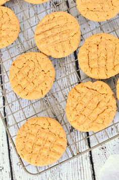 A three ingredient recipe for sugar free peanut butter cookies. These are naturally low carb, gluten free, and easy to make!