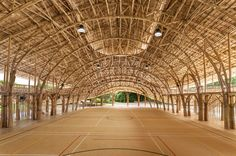 Bamboo Recreation Facility Inspired by the Lotus Flower