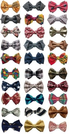 This is why they need to make a big comeback. Look at how great all these bowties are!... bowties are cool!!