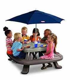 Little Tikes 451A  - Kindertisch Maxi mit Sonnenschirm