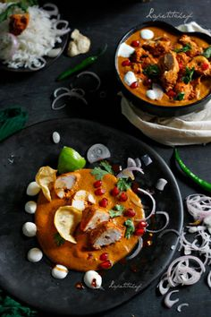 Rose-tea smoked chicken tikka masala, adapted from Michelin starred chef Vikas Khanna's recipe  - a scrumptious curry with a silken smooth deceptively flavorful gravy and succulent pieces of chicken tikka smothered in what is no doubt the best gravy EVER.