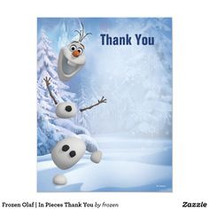 Frozen Olaf | In Pieces Thank You Card