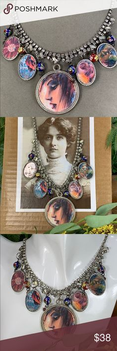 Jewelry Party, Jewelry Necklaces, Hippie Festival, Rhinestone Necklace, Hippie Boho, Gifts For Friends, Rust, Vintage Inspired, Vintage Jewelry