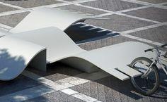 Free-form rack/bench by Spanish sculptor & industrial designer Remedios Simón. Visit the slowottawa.ca boards >> http://www.pinterest.com/slowottawa/